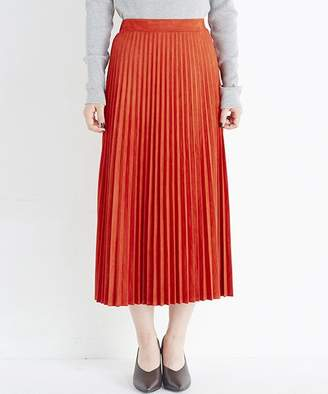 Q.U.E haco! 【mer1月号掲載】楽して女っぽい フェイクスエードのプリーツスカート by made me