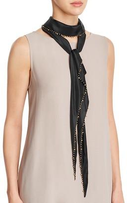 Eileen Fisher Beaded Skinny Silk Scarf $138 thestylecure.com