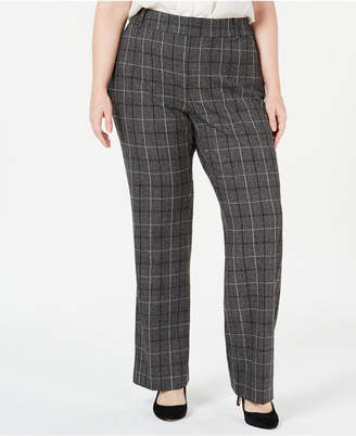 Charter Club Plus Size Plaid Trousers