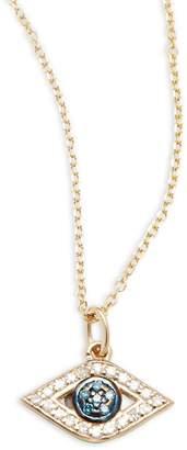 KC Designs Women's Blue, White Diamond & 14K Yellow Gold Necklace