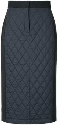 Tibi quilted combo skirt