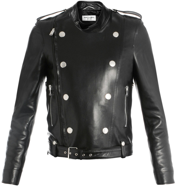 Saint Laurent Perfector double-breasted leather jacket
