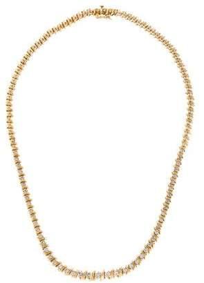 14K Diamond Line Necklace