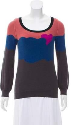 Sonia Rykiel Sonia by Colorblock Crew Neck Sweater