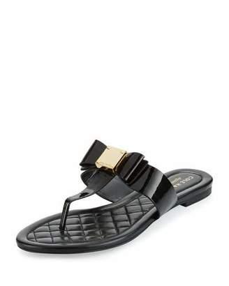 Cole Haan Tali Bow T-Strap Sandal, Black $130 thestylecure.com