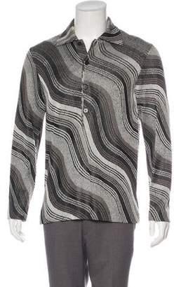 Missoni Jacquard Striped Polo Sweater