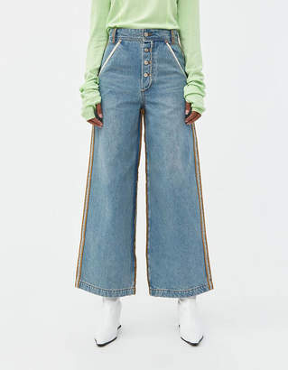 Andersson Bell Raw Cut Wide Denim Jeans