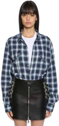 DSQUARED2 Cotton Blend Plaid Shirt