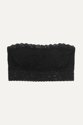 Hanky Panky - Bandeau Stretch-lace Soft-cup Bra - Black