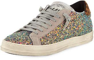 P448 John Glitter Platform Low-Top Sneakers
