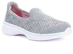 Skechers GOwalk 4 Kindle Girls' Sneakers $49.99 thestylecure.com