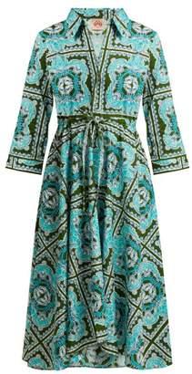 Le Sirenuse Le Sirenuse, Positano - Lucy Aretusa Print Cotton Shirtdress - Womens - Green Print