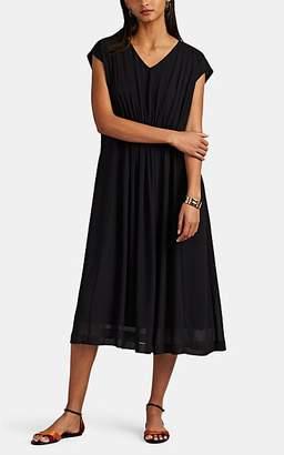 Pas De Calais Women's Georgette V-Neck Shift Dress - Black