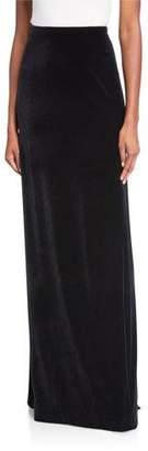 Rickie Freeman For Teri Jon Velvet Long Column Skirt