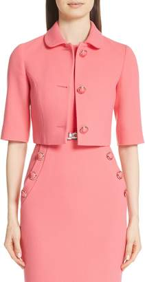 Michael Kors Stretch Wool Crop Jacket