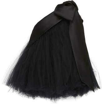 Richard Quinn One-Shoulder Tulle Tutu Mini Dress