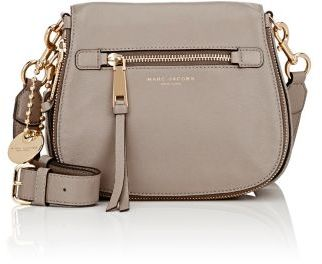 Marc Jacobs Women's Recruit Small Saddle Bag-LIGHT GREY $375 thestylecure.com