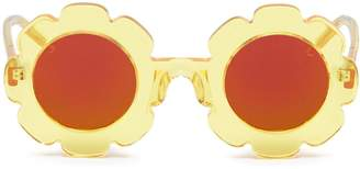 Sons+Daughters Eyewear 'Pixie' mirror acetate flower frame kids sunglasses