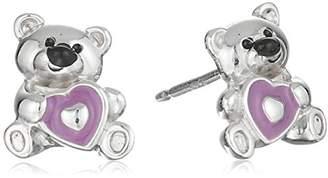 Hallmark Jewelry Girls Sterling Teddy Bear Stud Earrings