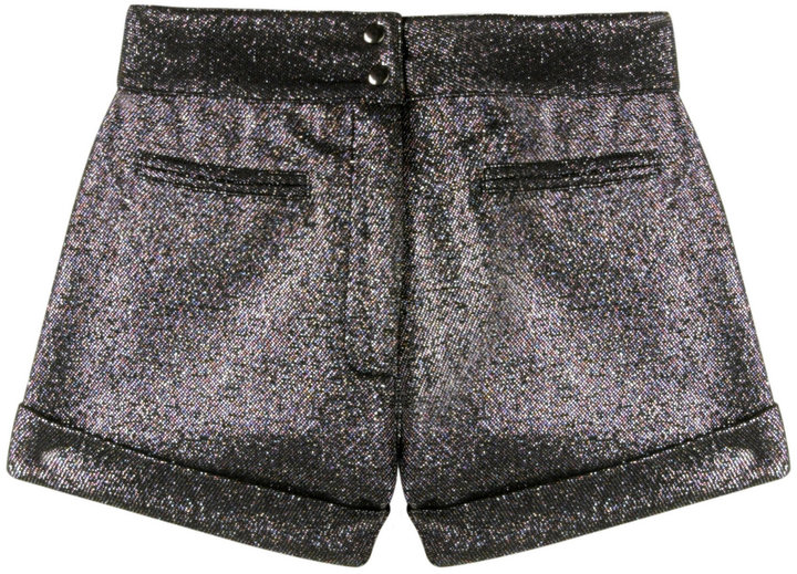 Anna Sui Silver Lurex Hot Pants