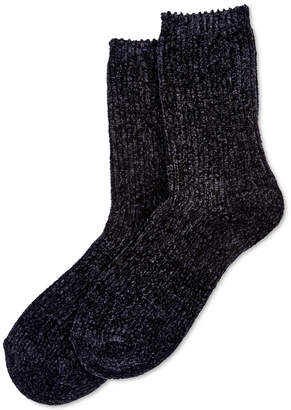 Hue Chenille Plush Socks
