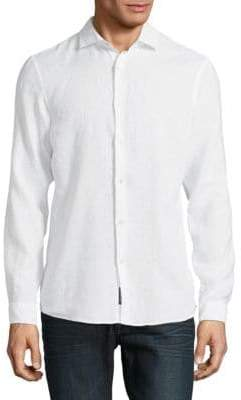 Michael Kors Linen Slim-Fit Shirt