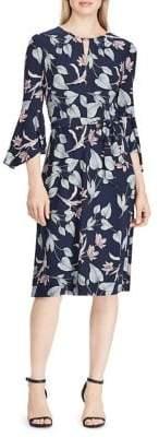 Lauren Ralph Lauren Floral Bell-Sleeve Knee-Length Jersey Dress
