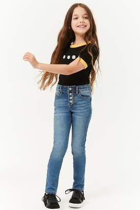 Forever 21 Girls Button Fly Jeans (Kids)