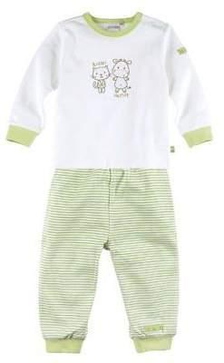 BORNINO Schlafanzug lang Baby-Pyjama Baby-Nachtwäsche NEU grün