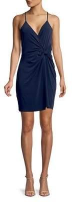 BCBGeneration Sleeveless Twist-Front Surplice Dress
