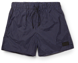 Acne Studios Perry Checked Mid-Length Swim Shorts $190 thestylecure.com