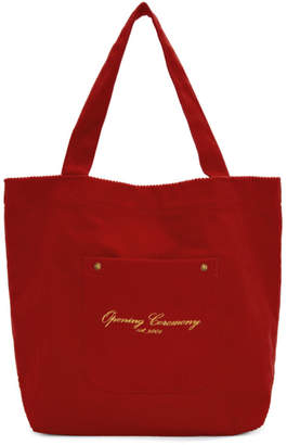 Opening Ceremony Red Corduroy Tote