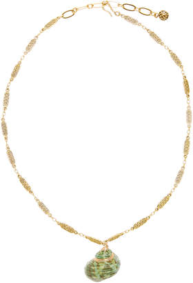 Brinker & Eliza Pass The SPF 24K Antique Gold Pendant Necklace