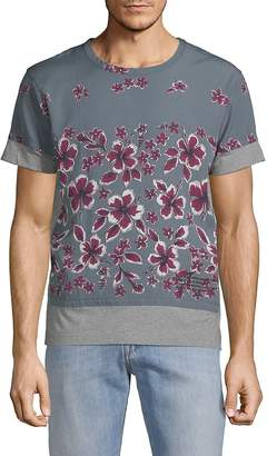 Valentino Men's Floral-Print Cotton Tee