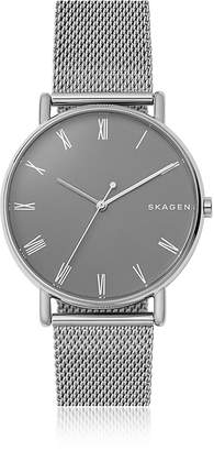 Skagen Signatur Grey Dial and Steel Mesh Men's Watch