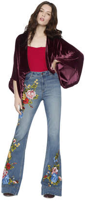 Alice + Olivia Donnie Wide Sleeve Cropped Jacket