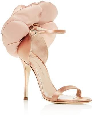 83fa84fba086e Giuseppe Zanotti Women's Flower-Embellished High-Heel Sandals