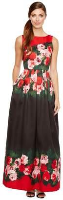 Tahari ASL Rose Printed Ballgown Women's Dress