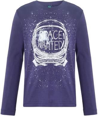 Benetton Boys Space Graphic Long Sleeve T-Shirt
