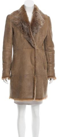 Valentino Valentino Shearling Double-Breasted Coat