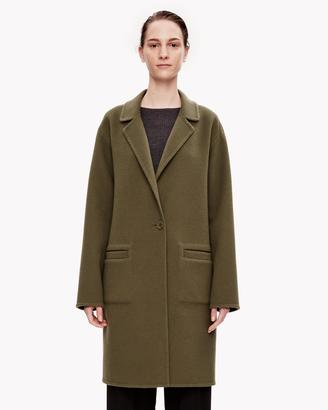 Double-Face Wool-Cashmere Unconstructed Coat $795 thestylecure.com