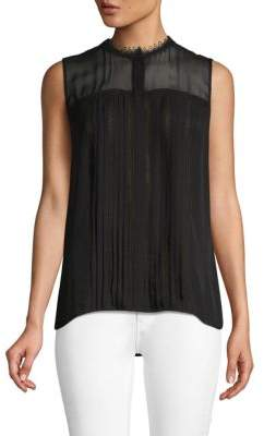 Elie Tahari Danae Sleeveless Silk Blouse
