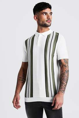 boohoo Regular Fit Soft Cotton Knitted Polo