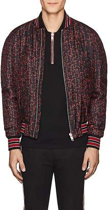 Givenchy Men's Logo-Print Silk Bomber Jacket