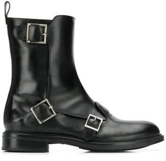 Santoni buckled boots
