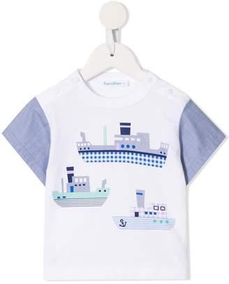 Familiar boat print T-shirt