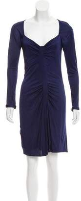 Yigal Azrouel Ruched Long Sleeve Dress