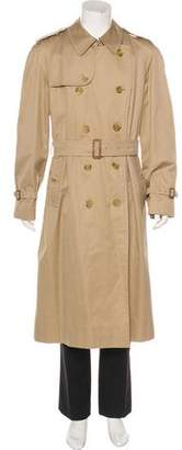 Burberry Vintage Twill Double-Breasted Trench Coat