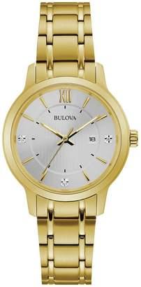 Bulova Women's Diamond Accented Analog Quartz Bracelet Watch, 32mm - 0.015 ctw