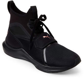 Puma Black & Rose Gold Phenom Training Sneakers